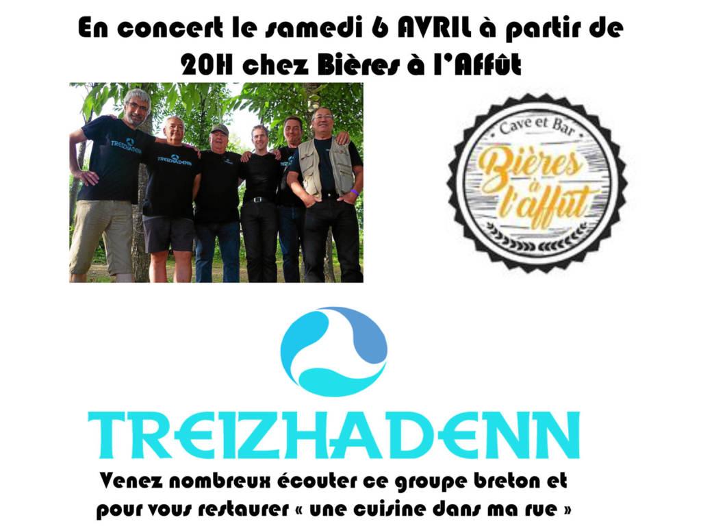 Concert Treizhadenn à Bières à l'Affût